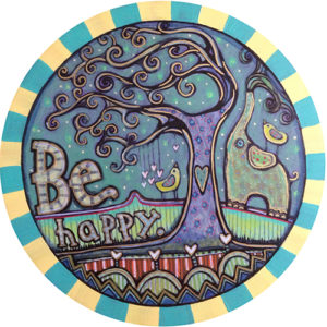 Be Happy Car Magnet