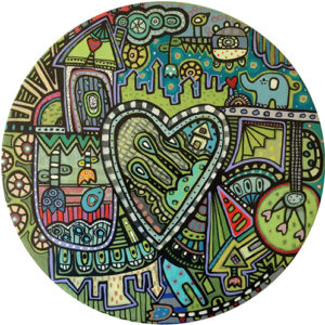 Cluttered Heart Coaster
