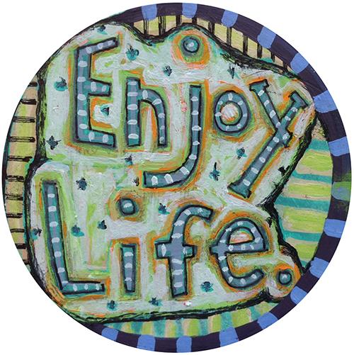 Enjoy Life Car Magnet