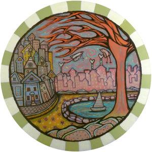 Orange Tree Coaster