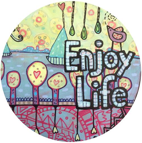 Pink Yellow Enjoy Life