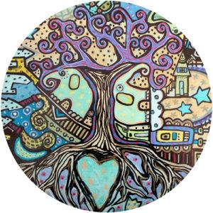 Two Blue Eleys Coaster